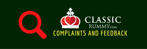 classic rummy complaints