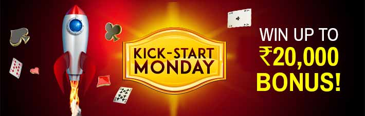Kick-start Mondays at Junglee Rummy