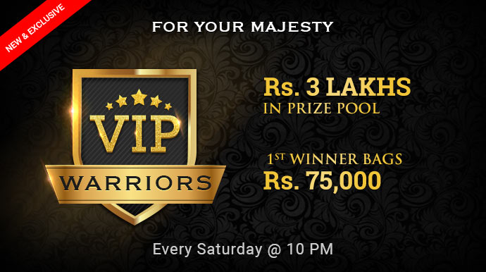 VIP warriors rummy tournaments