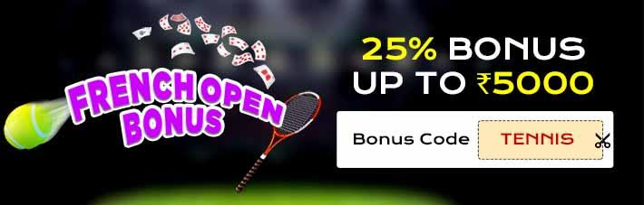 french open tennis junglee rummy bonus offer