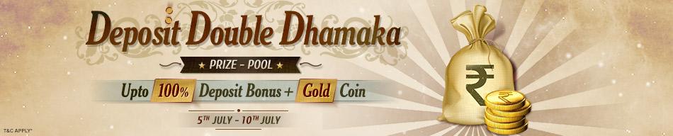 Deposit Double Dhamaka rummy bonus adda52