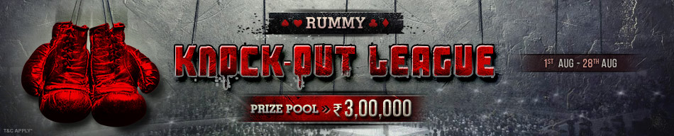 knock-out league rummy promotion adda52