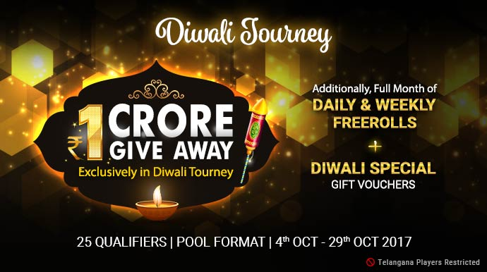 1 CRORE Giveaway Diwali Tourney at Ace2Three