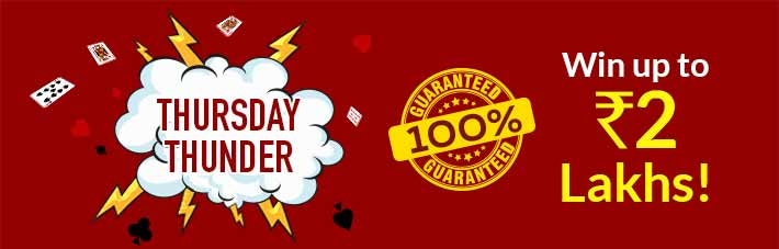 Junglee Rummy promotion Thursday Thunder