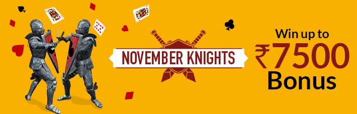 November knights junglee rummy bonus