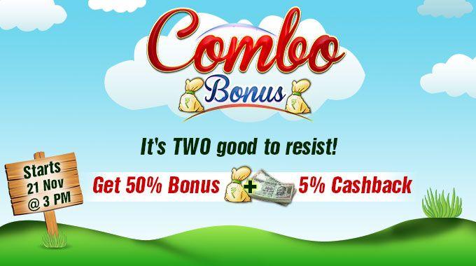 combo rummy bonus cashback rummycircle