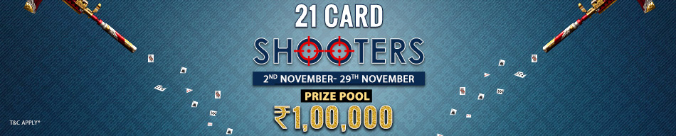 21 card Shooters contest at Adda52 Rummy