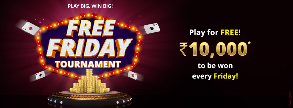 khelplay rummy tournament free roll friday