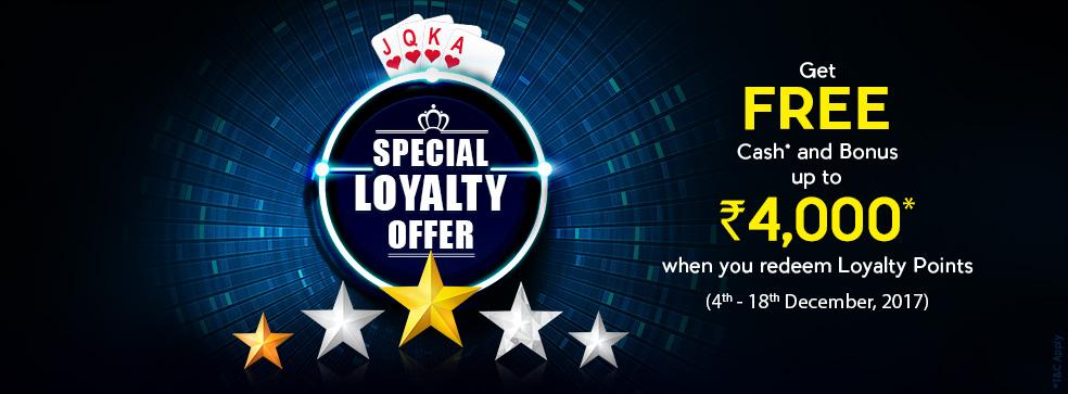 loyalty offer khelplay rummy bonus free cash
