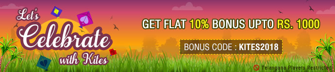 KITES2018 Sankranti Ace2Three Rummy Bonus Offer